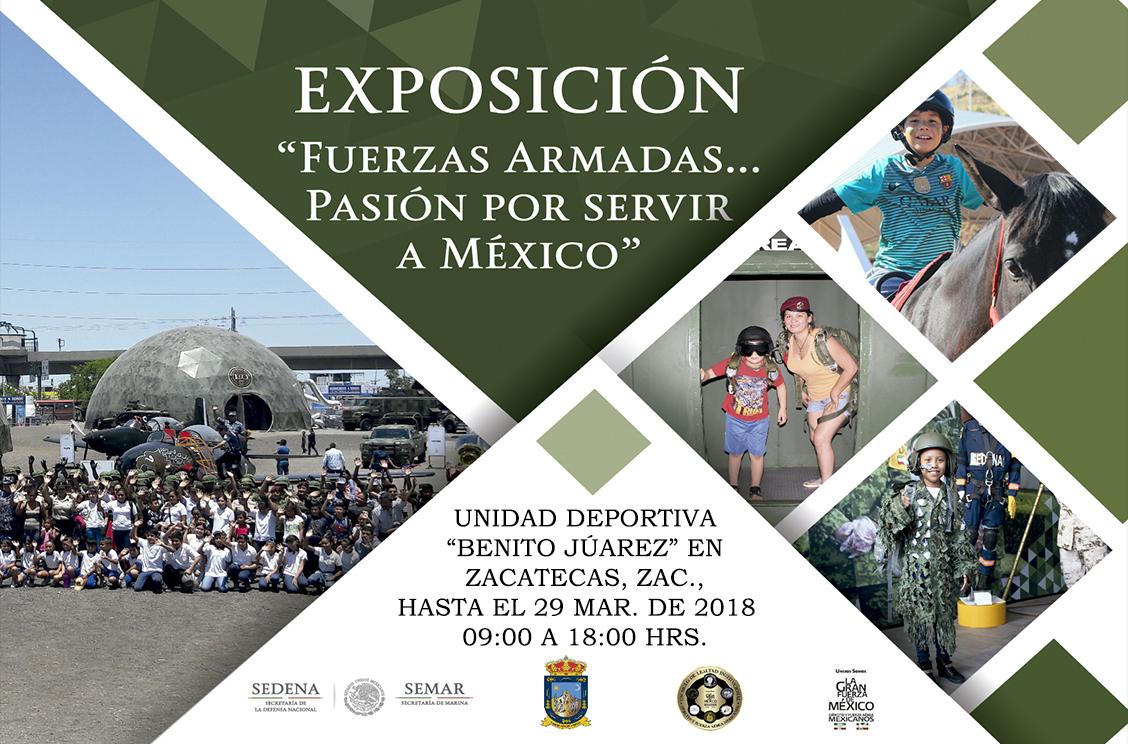 Imágenes de la Exposición Militar, en Zacatecas, Zac.