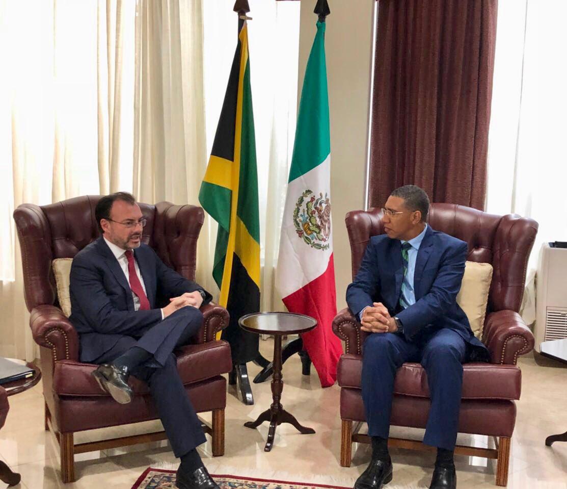 Promueve el Canciller Videgaray lazos comerciales y de inversión con Jamaica