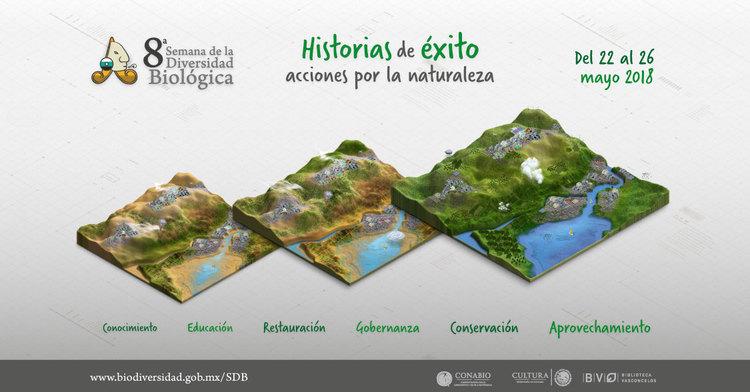 La 8a Semana de la Diversidad Biológica se realizó del 22 al 26 de mayo en la Biblioteca Vasconcelos.