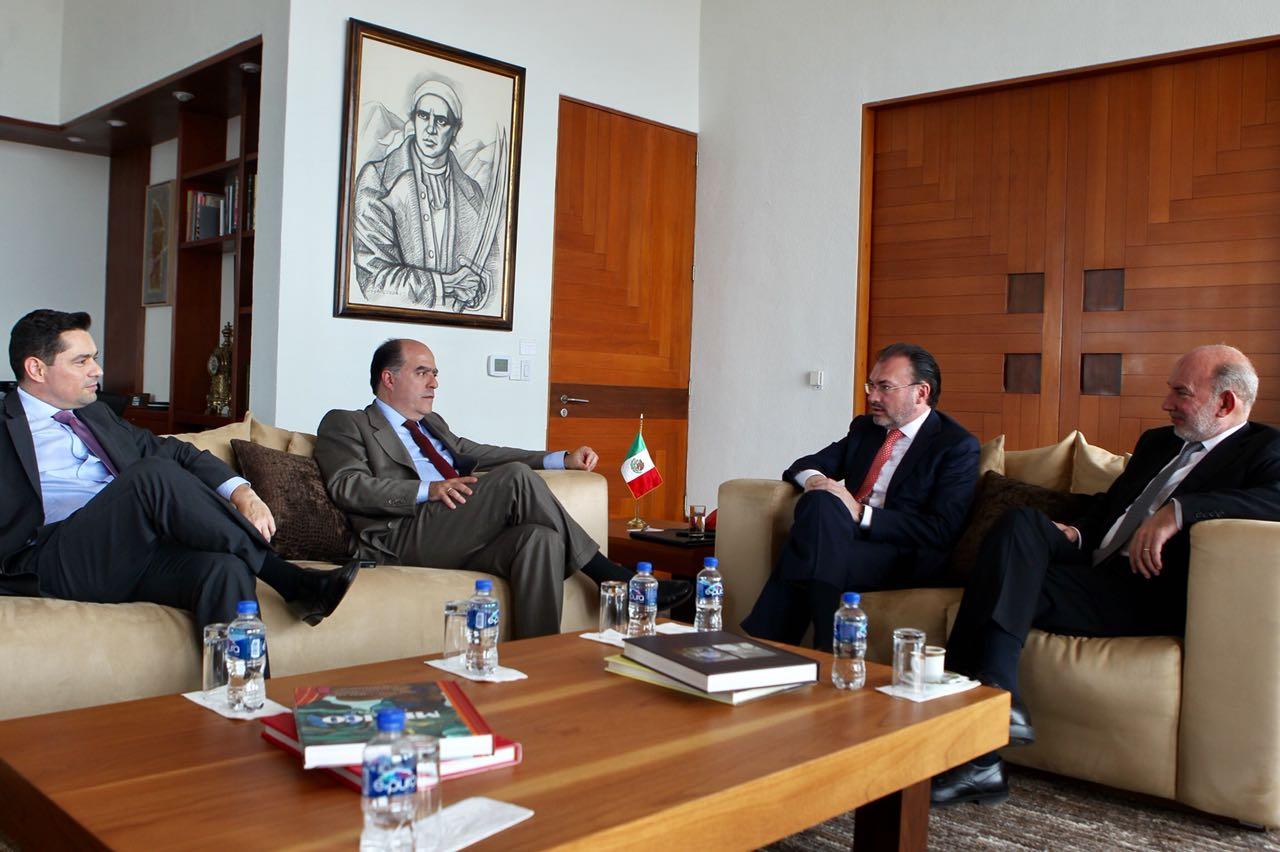 Se reúne el Secretario Luis Videgaray con representantes de la oposición venezolana