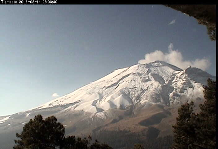 El sistema de monitoreo registró en las últimas 24 h 164 exhalaciones y dos sismos volcanotectónicos de magnitud menor a 2.0.