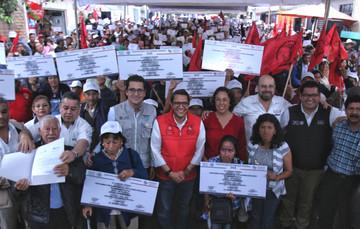 Entrega de acciones de vivienda en Jalapa, Veracruz.
