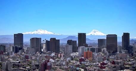 Vista panorámica de edificios de la Ciudad de México.