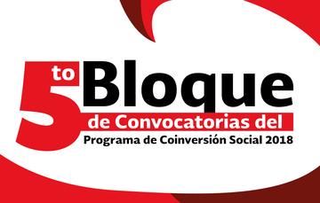 Publica Indesol el Quinto Bloque de Convocatorias del Programa de Coinversión Social