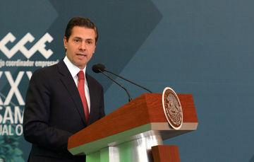 Presidente Enrique Peña Nieto durante la Asamblea Anual del Consejo Coordinador Empresarial