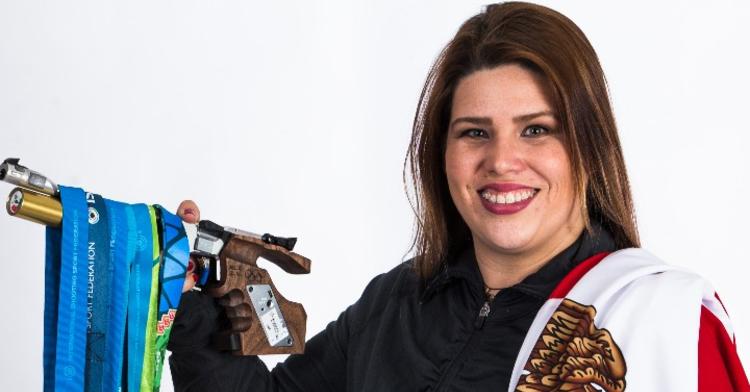 Alejandra Zavala, atleta en Tiro Deportivo