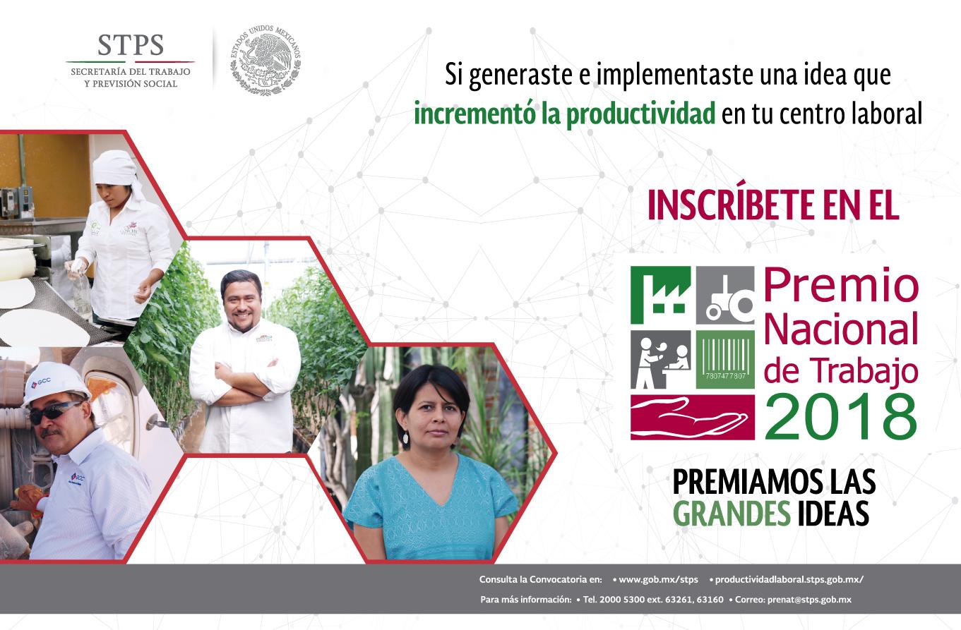 Cartel de promocional del Premio Nacional de Trabajo 2018