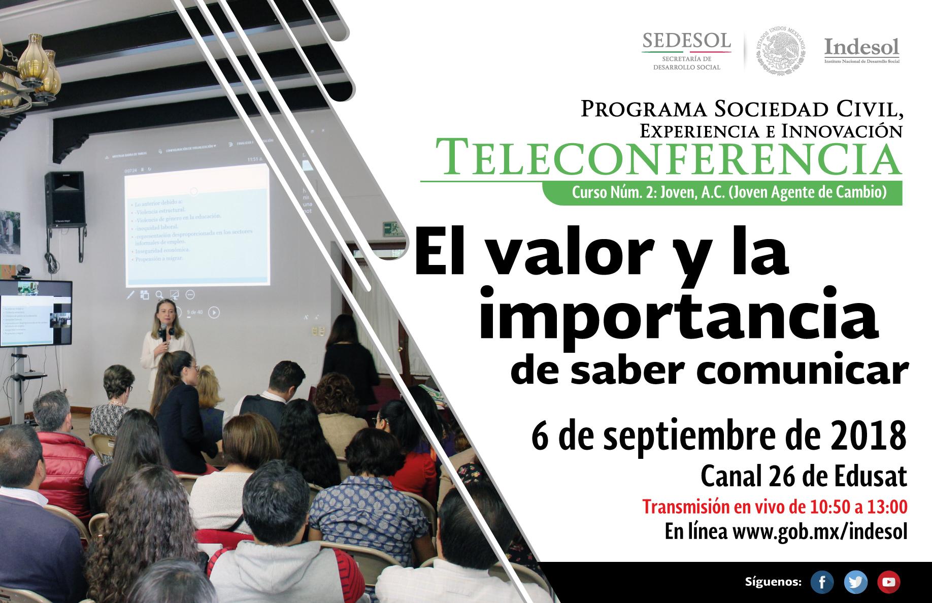 Próxima teleconferencia del Indesol: Embajadas, fondos y donantes internacionales II