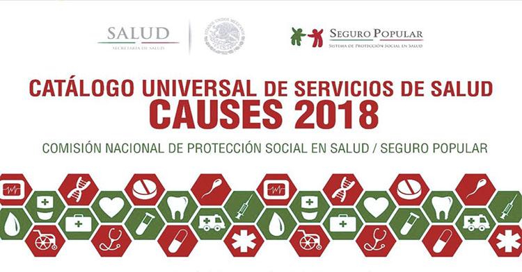 Catálogo Universal de Servicios de Salud, CAUSES 2018.