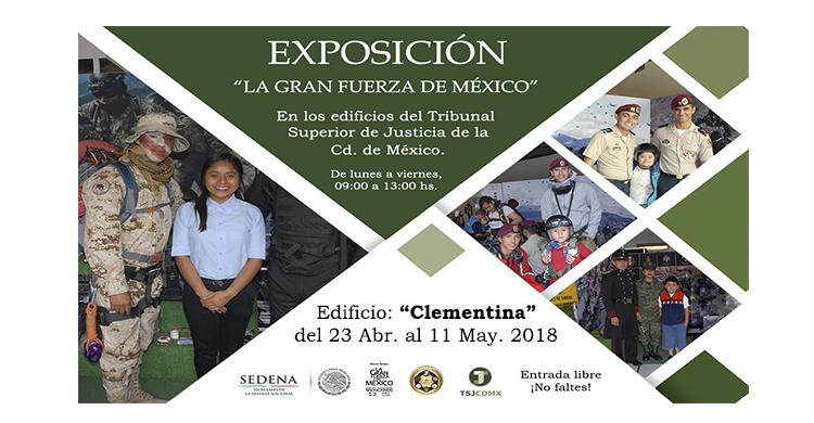 Imágenes de la Exposición Militar, en el Tribunal Superior de Justicia de la Cd. Méx.