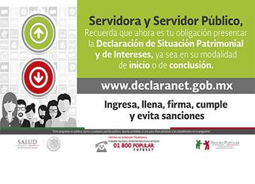 Servidora y Servidor Público de la Comisión Nacional de Protección Social en Salud.