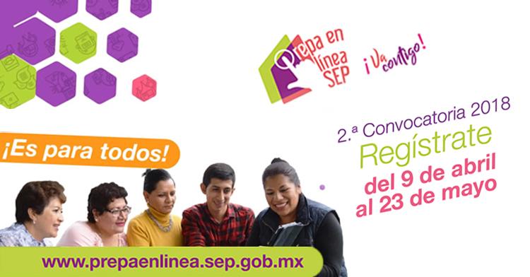 Ya puedes inscribirte a #PrepaEnLíneaSEP, consulta la segunda convocatoria