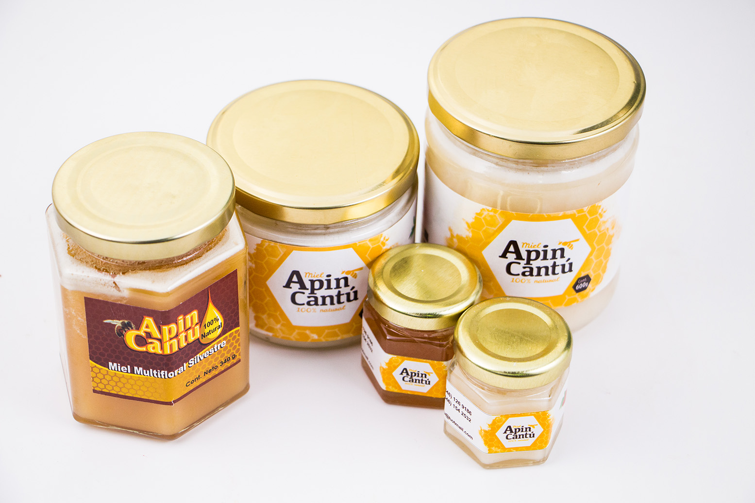 Producto de miel envasado