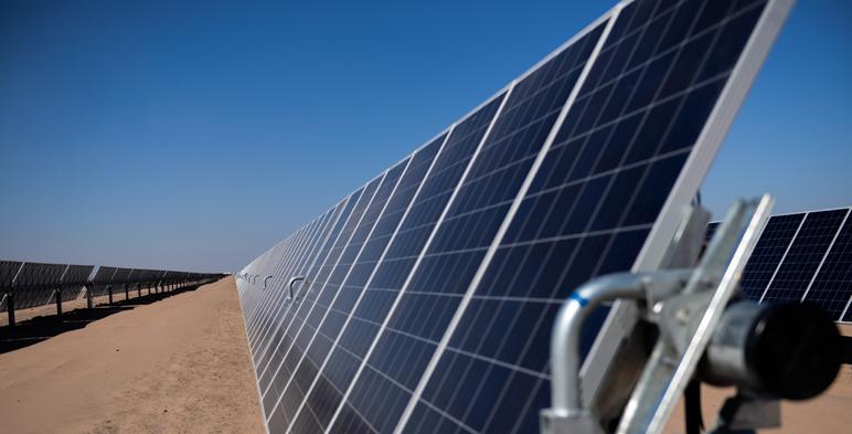 Detalle de parque solar.