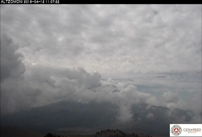 En las últimas 24 horas, por medio de los sistemas de monitoreo del volcán Popocatépetl, se identificaron 22 exhalaciones de baja intensidad acompañadas de vapor de agua y gas.