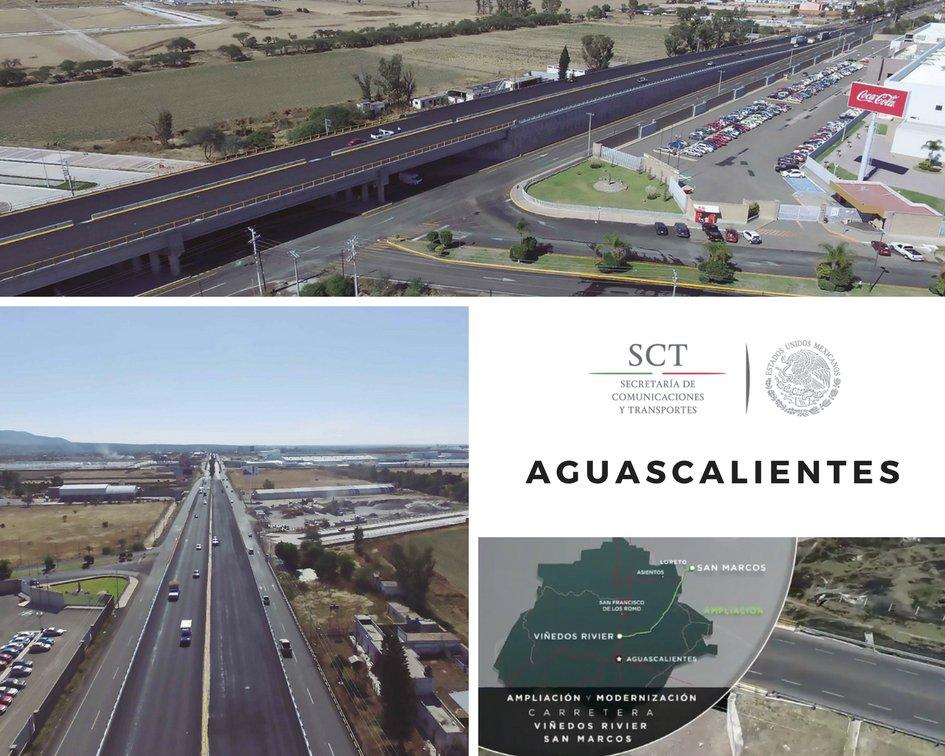 Modernización y Ampliación de la Carretera Viñedos Rivier-San Marcos y Construcción del Paso Superior Vehicular en la Carretera Federal 45 León-Aguascalientes