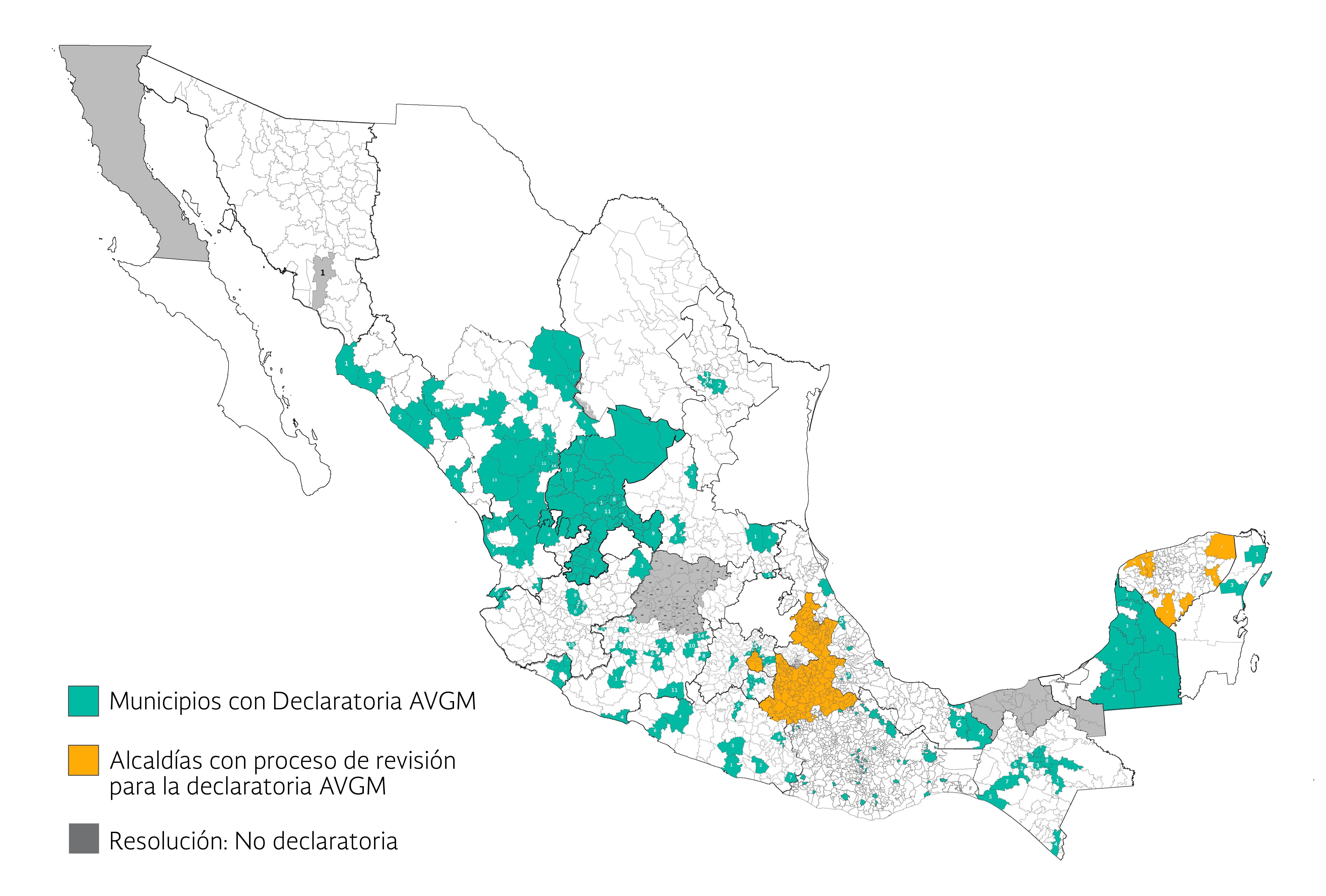 Alertas de Violencia de Género contra las Mujeres en México