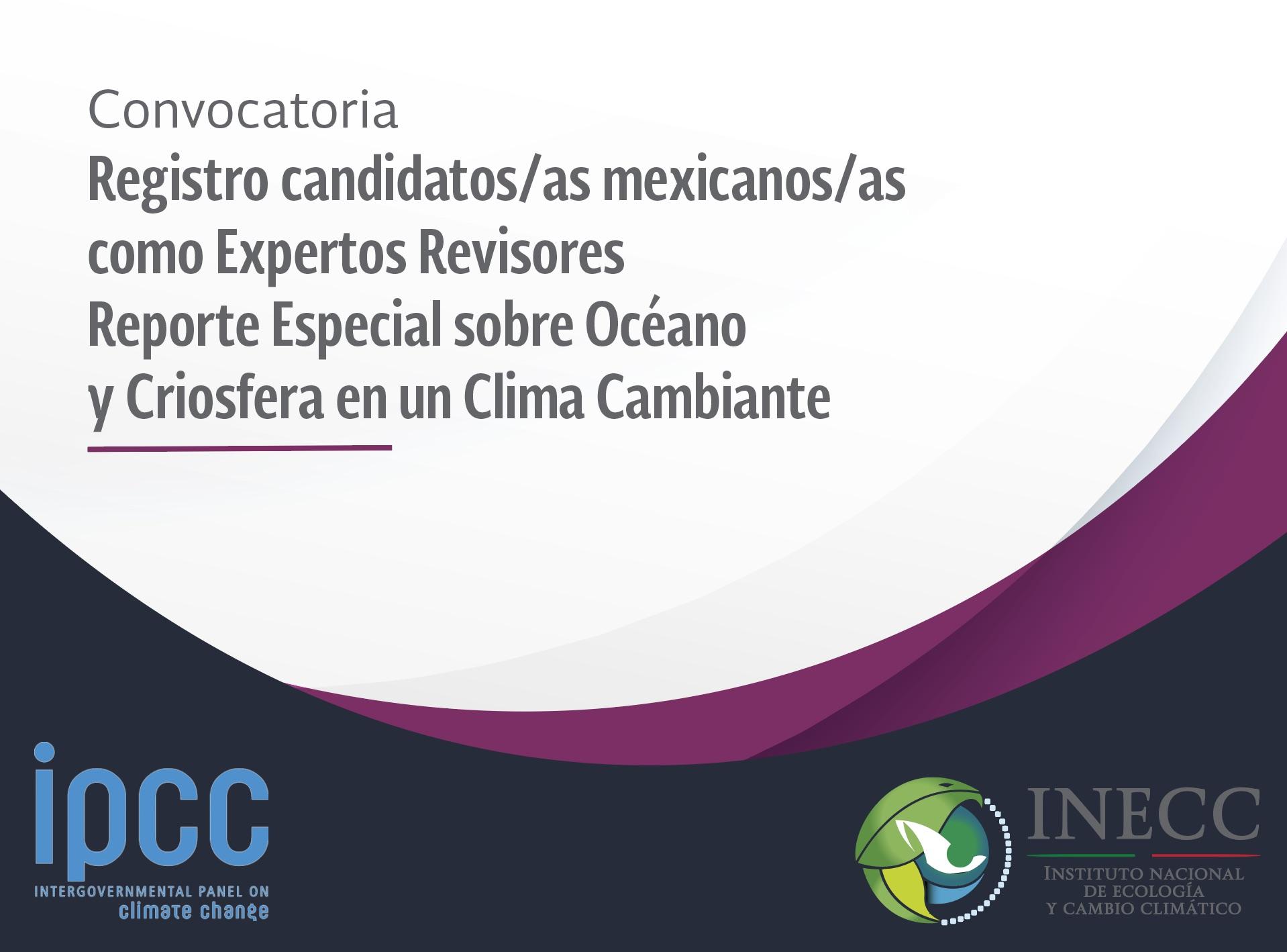 Convocatoria IPCC Reporte Océano y Criosfera en un Clima Cambiante