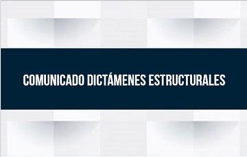 Título Comunicado Dictámenes Estructurales