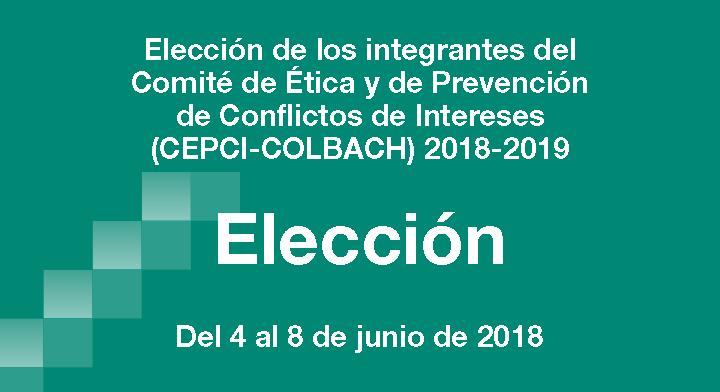 """Portada en color verde con la leyenda """"Elección de los integrantes del Comité de Ética y de Prevención de Conflictos de Intereses"""""""