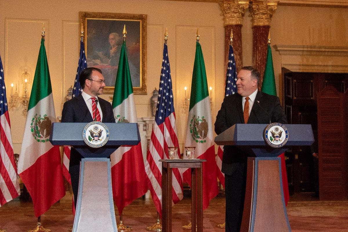 El Secretario Luis Videgaray se reúne con el Secretario de Estado de Estados Unidos, Michael Pompeo