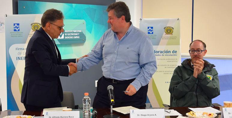 La sinergia que se forma entre instituciones educativas y el INEEL permite establecer proyectos que beneficien al sector energético y a la sociedad de México.
