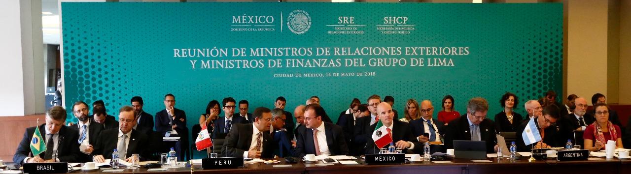 Reunión de Ministros de Relaciones Exteriores y de Finanzas del Grupo de Lima