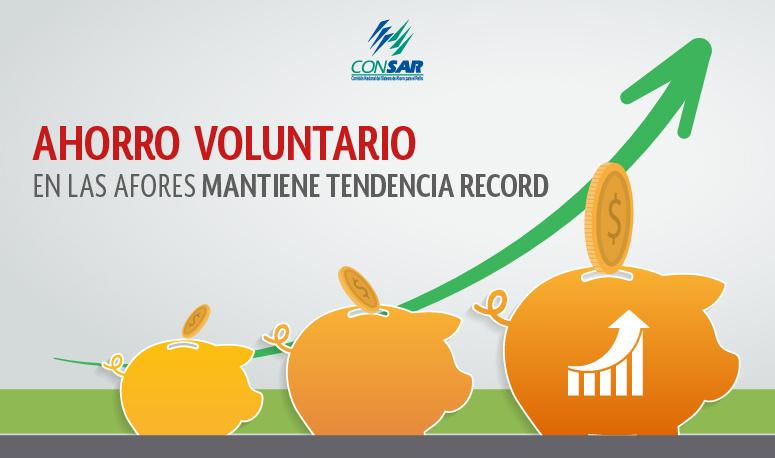 Ahorro voluntario en las AFORES mantiene tendencia récord en 2018.
