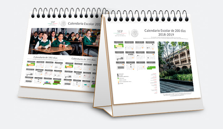 Imagen de calendarios de la SEP
