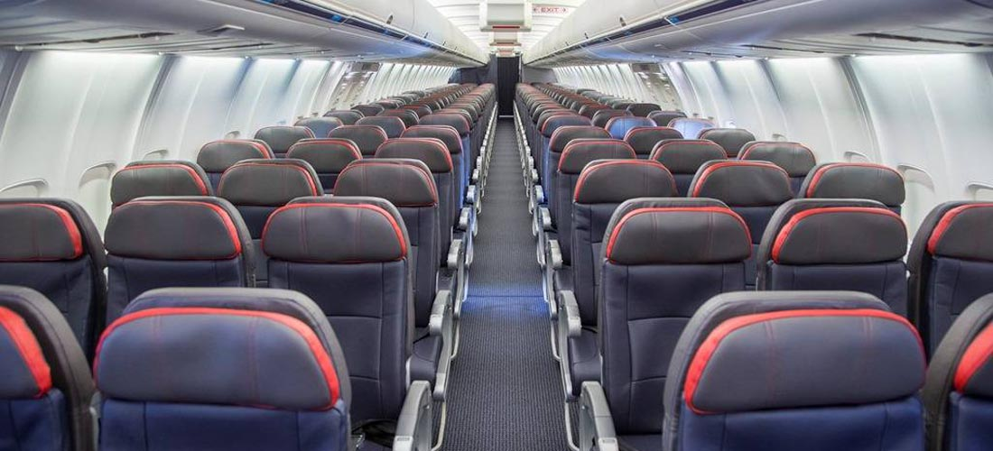 Imagen de asientos de avión