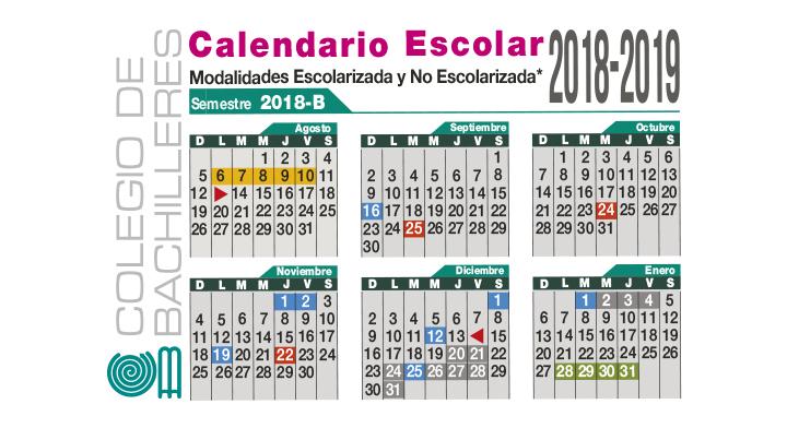 Calendario Escolar 2019 Aragon.Calendario Colegio De Bachilleres Gobierno Gob Mx