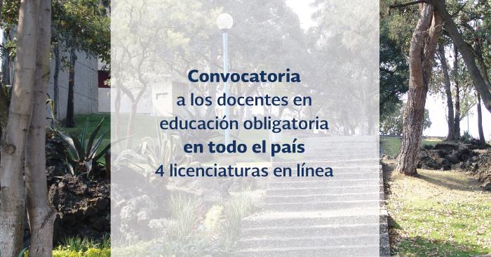 Fotografía de los jardines de la Universidad Pedagógica Nacional Ajusco.