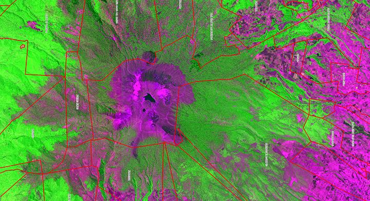 Foto de cartografía del Nevado de Toluca, Estado de México.