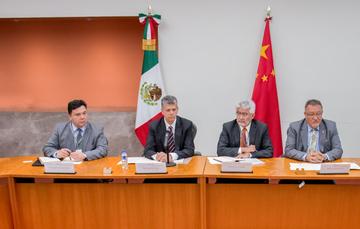 Funcionarios de México y China