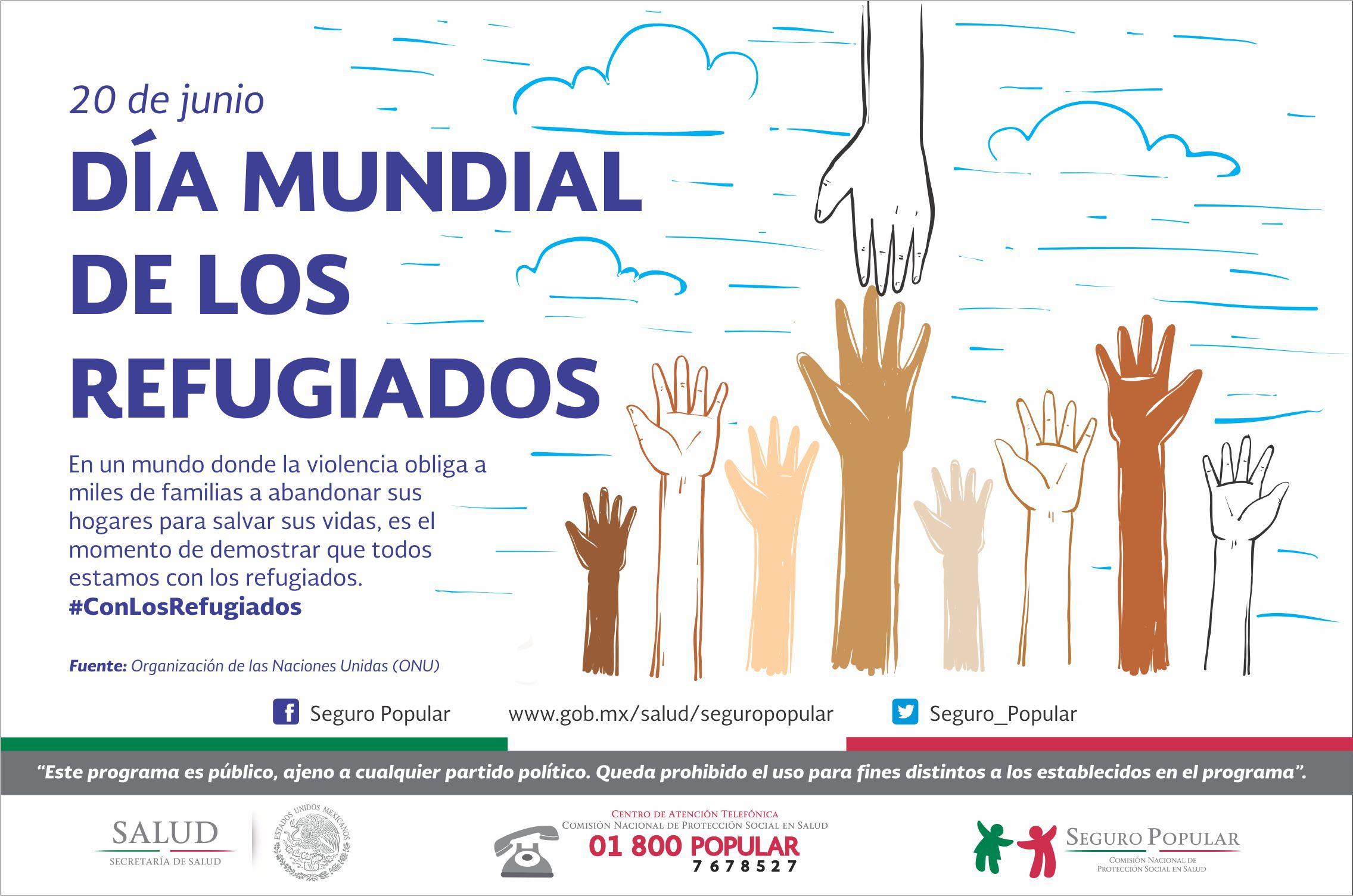 20 de junio, Día Mundial de los Refugiados.