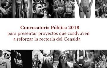 Convocatoría Pública 2018, proyectos que coadyuven en reforzar la rectoría del Censida