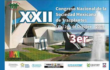 Participa en el XXII Congreso Nacional de la Sociedad Mexicana de Trasplantes que llevará a cabo del 17 al 20 de octubre, coordinado por la Sociedad Mexicana de Trasplantes, A.C., Celular 0445559988388