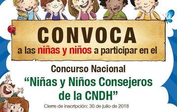 Las niñas y niños ganadores (as) participarán en la Sesión Niñas y Niños Consejeros de la CNDH en noviembre de 2018, en la cual debatirán y expondrán sus opiniones en torno a sus derechos.