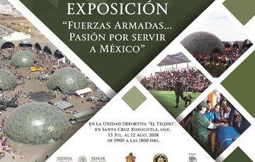 """Imágenes de la  """"Fuerzas Armadas... Pasión por servir a México"""", en Santa Cruz, Xoxocotla, Oax."""