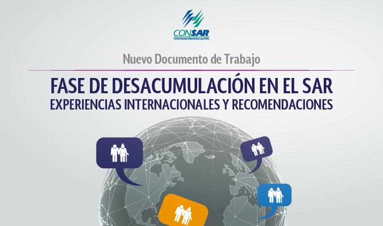 """Nuevo documento de trabajo """"Fase de desacumulación en el SAR: experiencias internacionales y recomendaciones""""."""