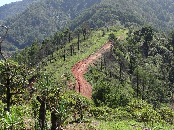 Foto de inestabilidad de laderas en Guerrero