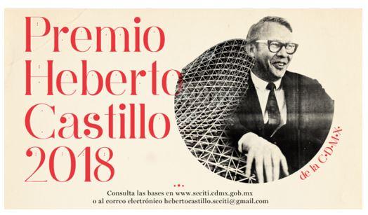 Premio Heberto Castillo de la Ciudad de México 2018.