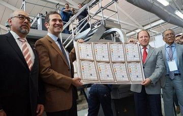 Inicio de Impresión de las Boletas para la Elección Presidencial del Proceso Electoral Federal 2017 - 2018
