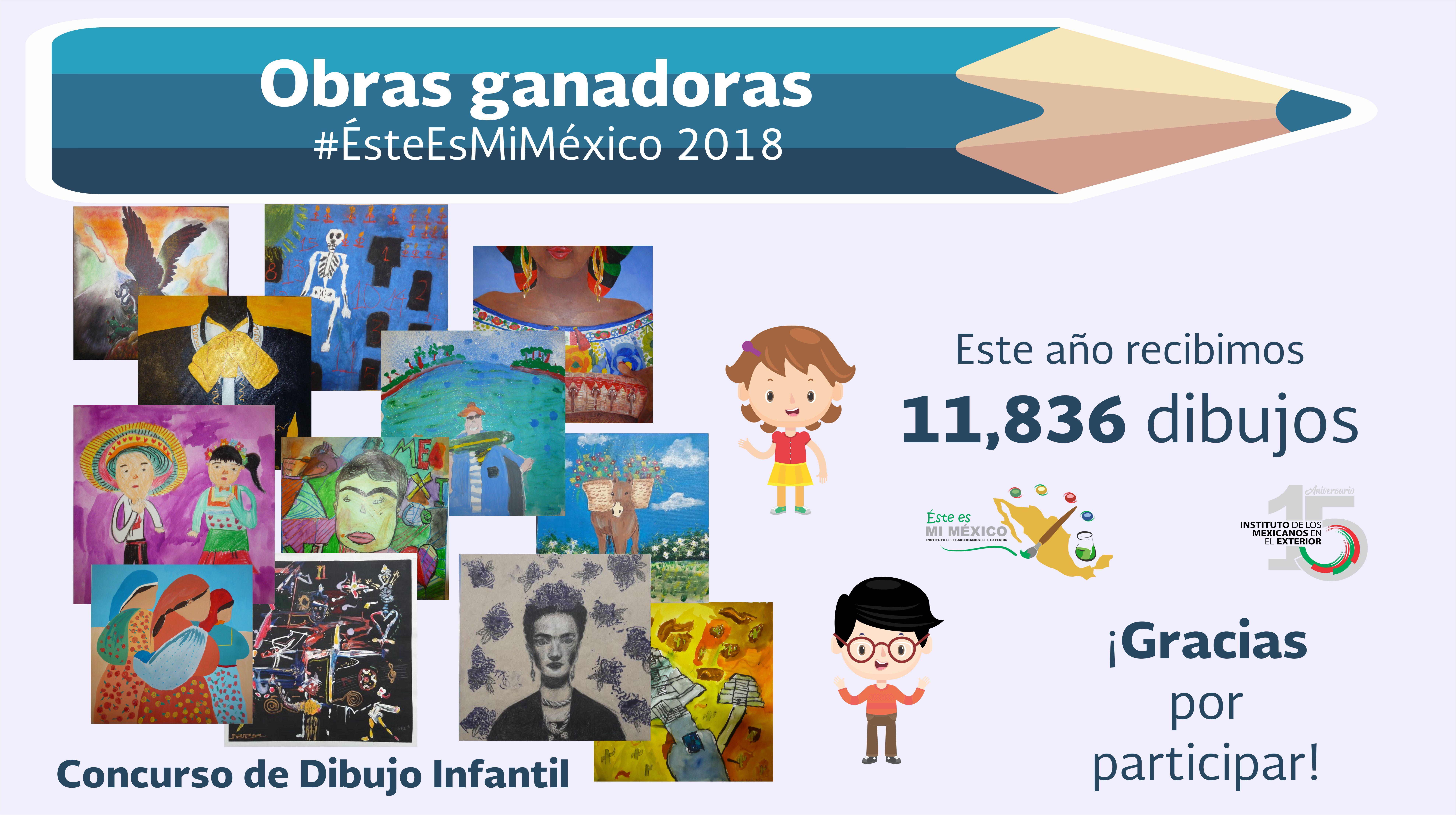 """Resultados del Concurso de Dibujo Infantil """"Éste es mi México"""" 2018"""