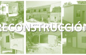Collage de fotos sobre la reconstrucción