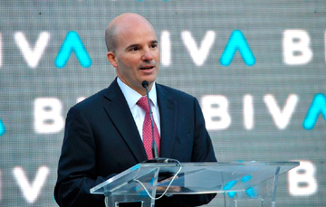 El secretario de Hacienda y Crédito Público, José Antonio González Anaya, encabezó la apertura de la nueva Bolsa Institucional de Valores.