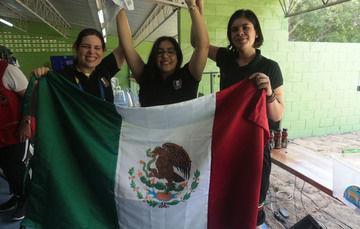 La abanderada mexicana se corona en pistola 25 metros de tiro deportivo; además México suma 3 bronces esta jornada