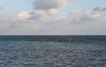 General de horizonte en océano.