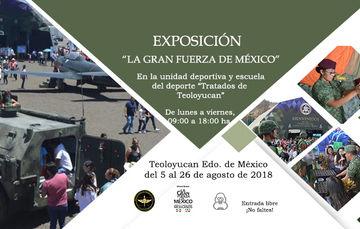 """Imágenes de la Expo Militar """"La Gran Fuerza de México"""", en Teoloyucan Edo. de México."""
