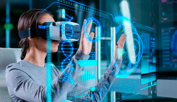 imagen de visor de realidad virtual